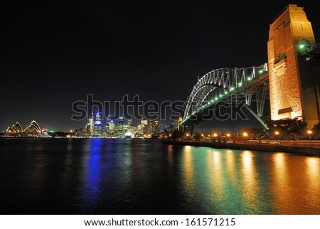 Skyline Sydney, Sydney Opera, Harbour Bridge - stock photo
