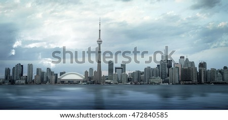 Skyline Toronto from Toronto Island with a Thunder