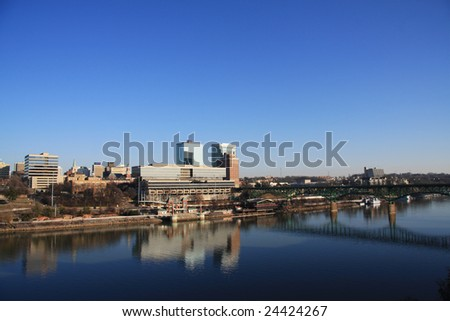 Skyline view of downtown Knoxville. - stock photo