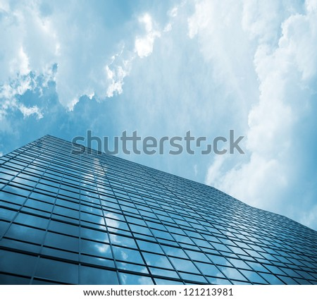 skyscraper against sky building glass background