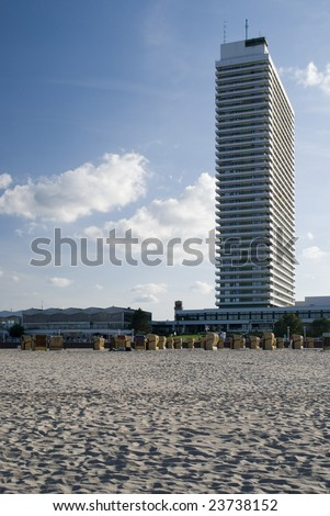 skyscraper at the beach