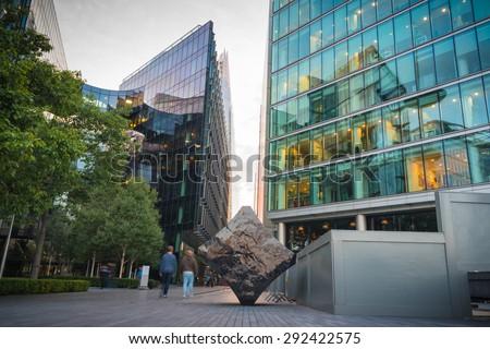 Skyscraper Business Office, Corporate building in London City, England, UK. - stock photo