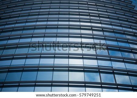 Skyscraper glass facade