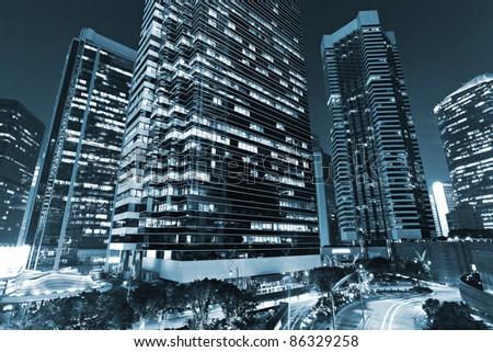 skyscraper in blue - stock photo