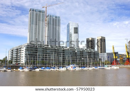 Skyscraper in Buenos Aires, Argentina. - stock photo