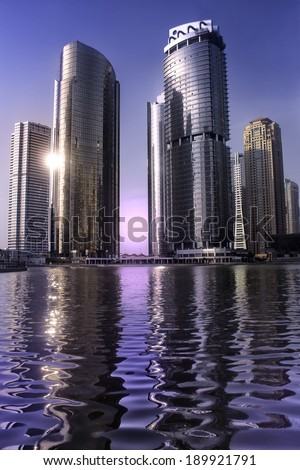 skyscraper in dubai - stock photo