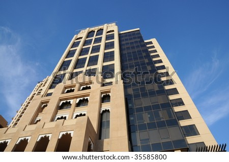 Skyscraper in Dubai city, United Arab Emirates