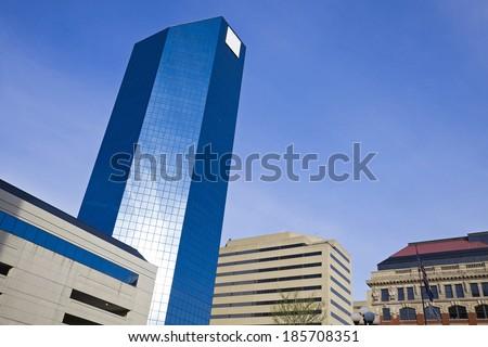 Skyscraper in Lexington, Kentucky. - stock photo