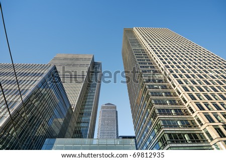 Skyscraper in London (Canary Wharf area) - stock photo