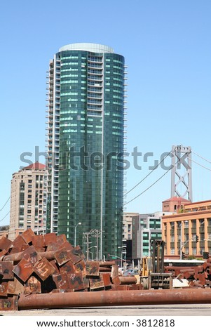 Skyscraper in San Francisco - stock photo