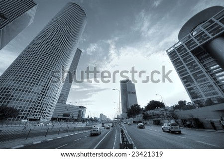 Skyscraper in the center of Tel Aviv