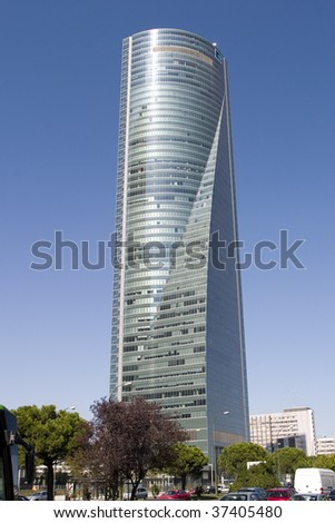 skyscraper madrid - stock photo