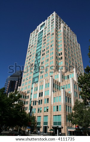 Skyscraper office building - stock photo