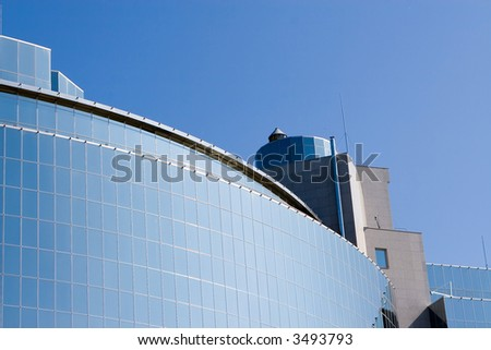 skyscraper on sky background