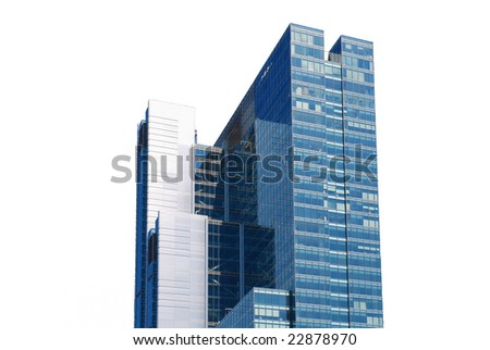 skyscraper on white - stock photo