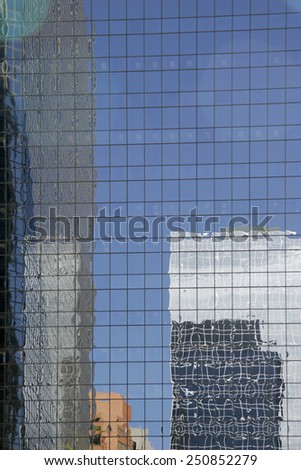 Skyscraper reflection  - stock photo
