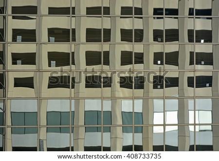 Skyscraper reflection - stock photo