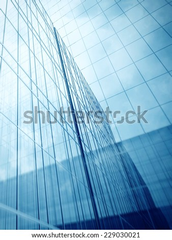 Skyscraper's glass walls