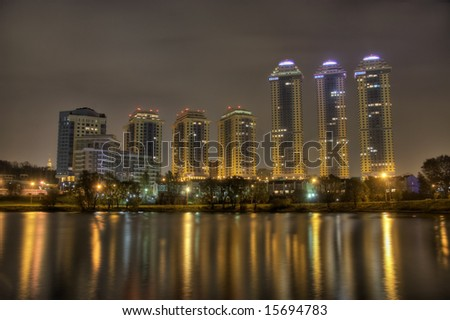 Skyscraper towers in Moscow - stock photo