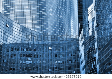 Skyscraper walls and windows - abstract photo of La Defense, Paris, France