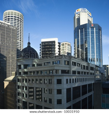 Skyscrapers and buildings in Sydney, Australia.