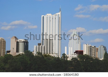 skyscrapers and condominiums - stock photo