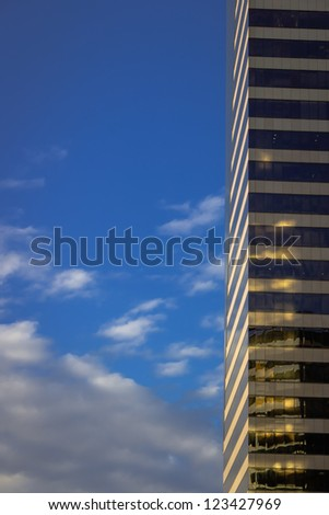 skyscrapers are rising higher and higher - stock photo
