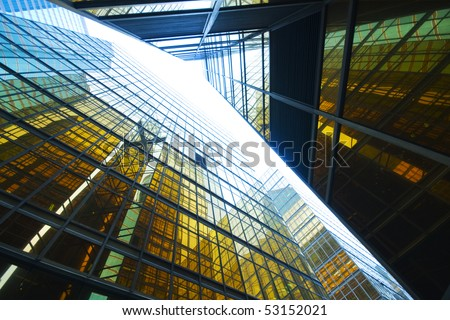 skyscrapers background for texture - stock photo