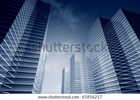 skyscrapers 3d - stock photo