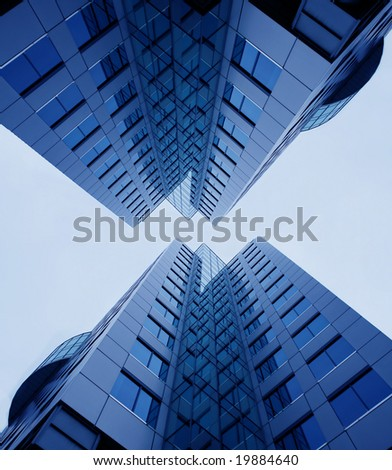 skyscrapers from lower point - stock photo