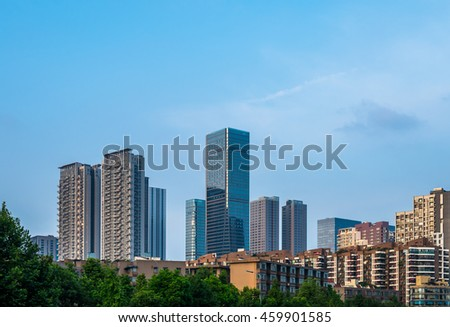skyscrapers in Chengdu, China