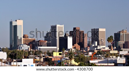 Skyscrapers in Downtown of Phoenix, AZ - stock photo