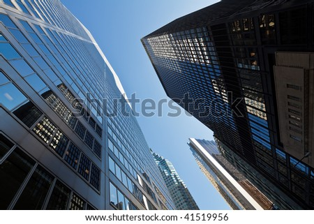 Skyscrapers in downtown Toronto, Canada - stock photo