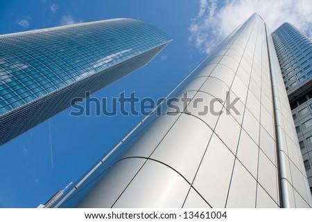 Skyscrapers in Frankfurt, Germany - stock photo
