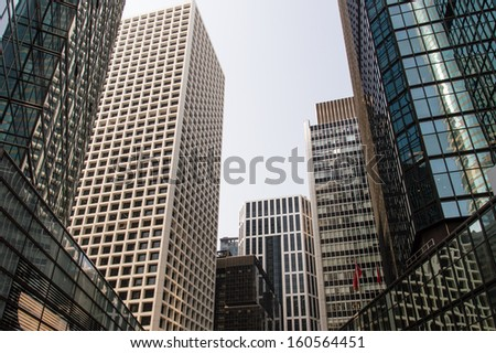 Skyscrapers in Hong Kong financial district.