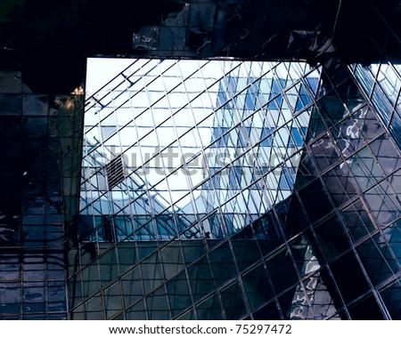 skyscrapers in london - stock photo