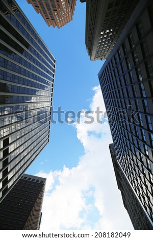 Skyscrapers in New York City  - stock photo