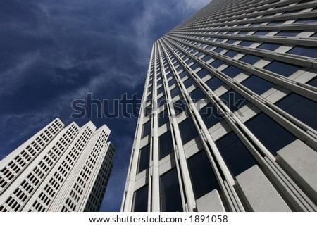 Skyscrapers in San Francisco - stock photo