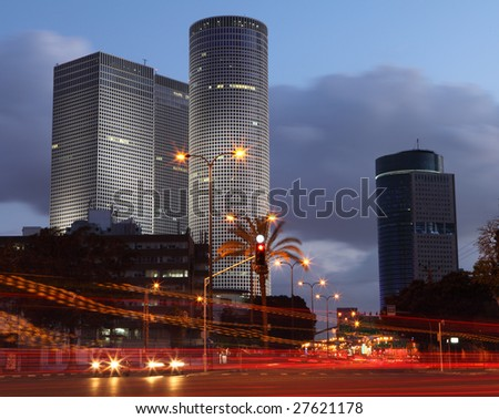 Skyscrapers in the center of Tel Aviv - stock photo