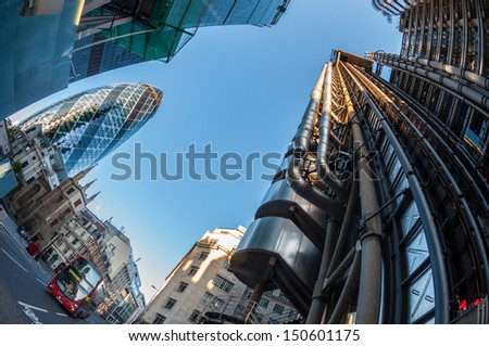 Skyscrapers in the City of London. - stock photo