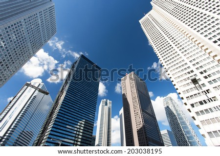 Skyscrapers of Shinjuku - stock photo
