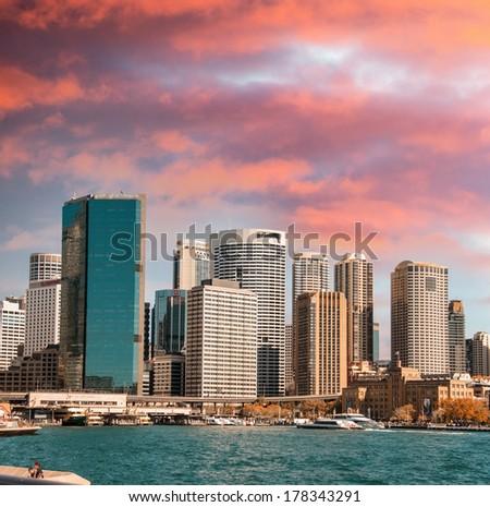 Skyscrapers of Sydney. - stock photo