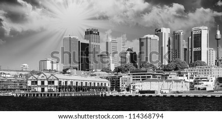 Skyscrapers of Sydney Harbour in Port Jackson - Australia