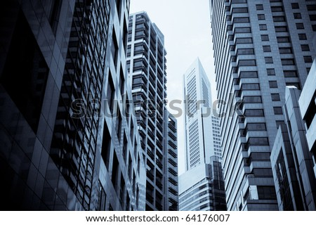 skyscrapers, typical urban cityscape - stock photo