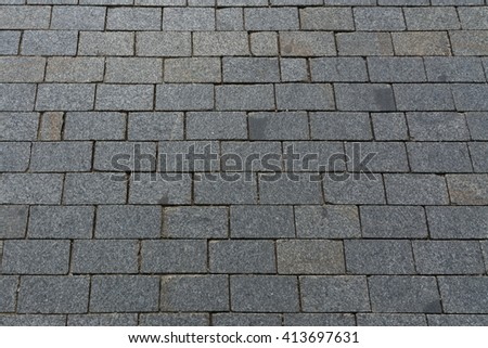 slabs gray paving slabs