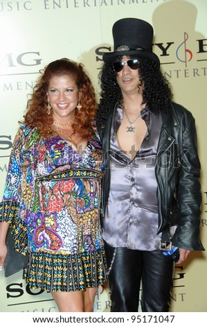 SLASH Velvet Revolver Wife PERLA FERRAR Stock Photo ...