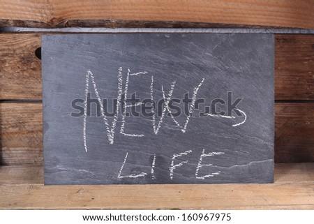 Slate, new life - stock photo