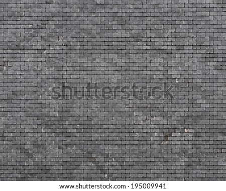 Slate roof background - stock photo