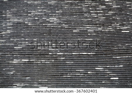 slate roof tiles - stock photo