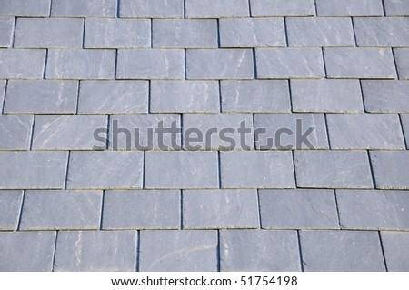 Slate Roof Tiles Background - stock photo